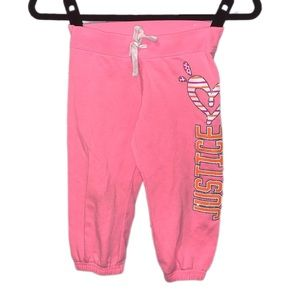 Justice Pink knee-length sweatpants - 7